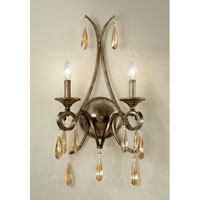 Feiss Reina 2 Light Wall Sconce in Gilded Imperial Silver WB1563GIS