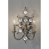 Feiss Leila 2 Light Wall Sconce in Burnished Silver WB1579BUS