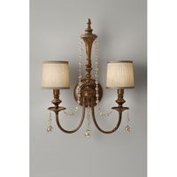 Feiss Clarissa 2 Light Wall Sconce in Firenze Gold WB1582FG