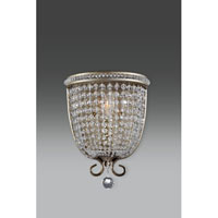 Feiss Dutchess 1 Light Wall Sconce in Burnished Silver WB1586BUS