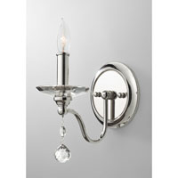 Feiss Malia 1 Light Wall Sconce in Polished Nickel WB1606PN