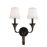 Feiss Arbor Creek 2 Light Wall Sconce in Arbor Bronze and Weathered Brass WB1735AZ/WBR