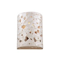 Feiss Azalia 1 Light Wall Sconce in White Taupe Ceramic and Beach Wood WB1738WTPC/BD