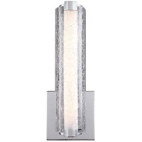 Feiss WB1870CH-L1 Cutler LED 5 inch Chrome Wall Bath Fixture Wall Light in Clear Crackle