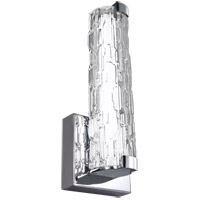 Feiss WB1871CH-L1 Cutler LED 5 inch Chrome Wall Bath Fixture Wall Light in Clear Staggered Rock