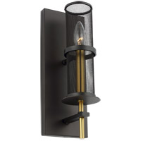 Feiss WB1886ORB/BBS Palmyra 5 inch Oiled Rubbed Bronze and Burnished Brass Wall Bath Fixture Wall Light
