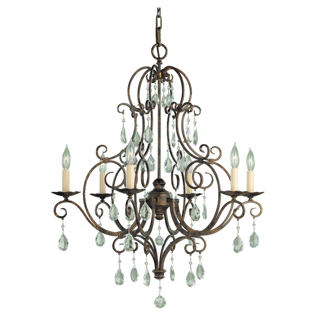 Feiss Chateau 6 Light Chandelier In Mocha Bronze F1902 6mbz