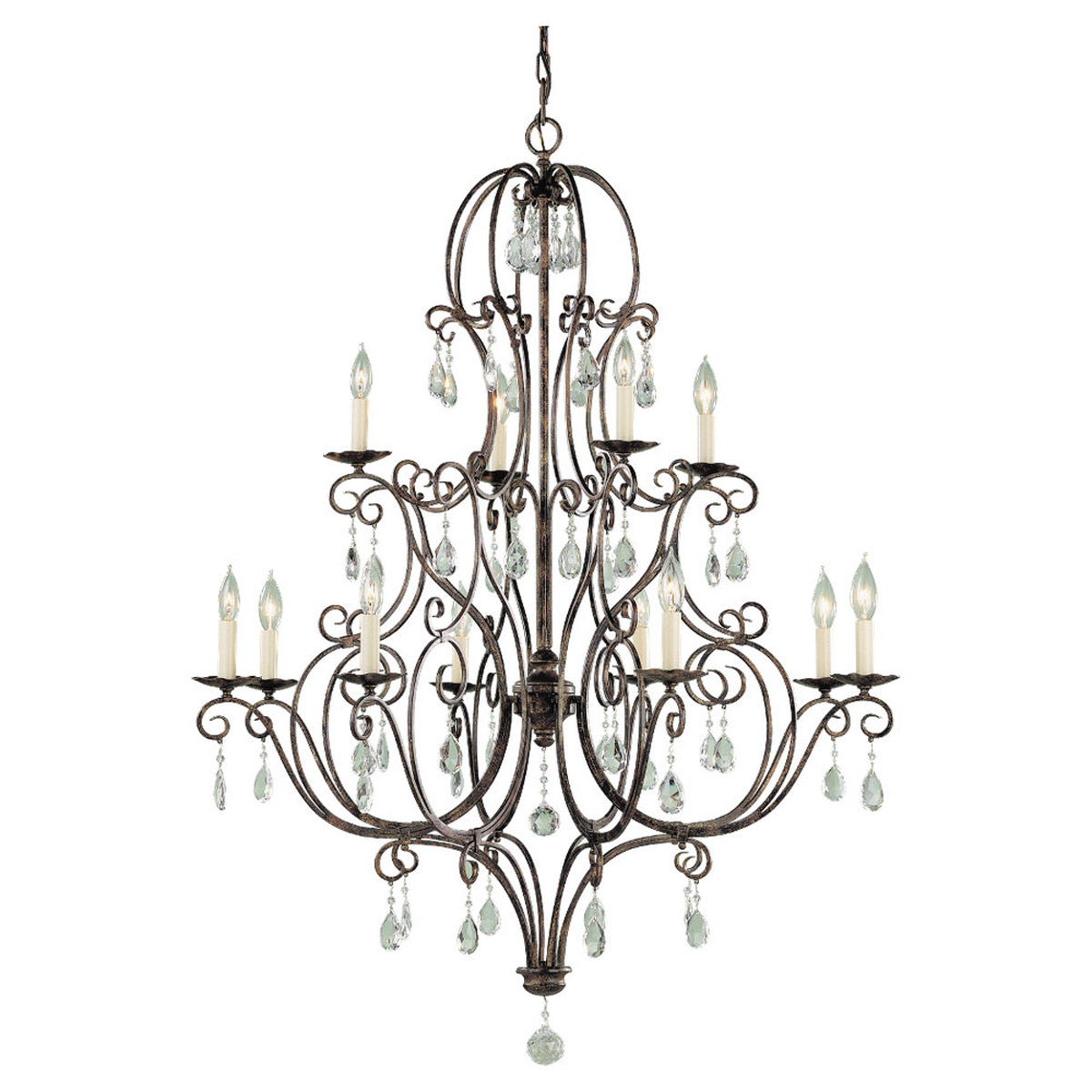 Feiss Chateau 12 Light Chandelier In Mocha Bronze F1938 8 4mbz