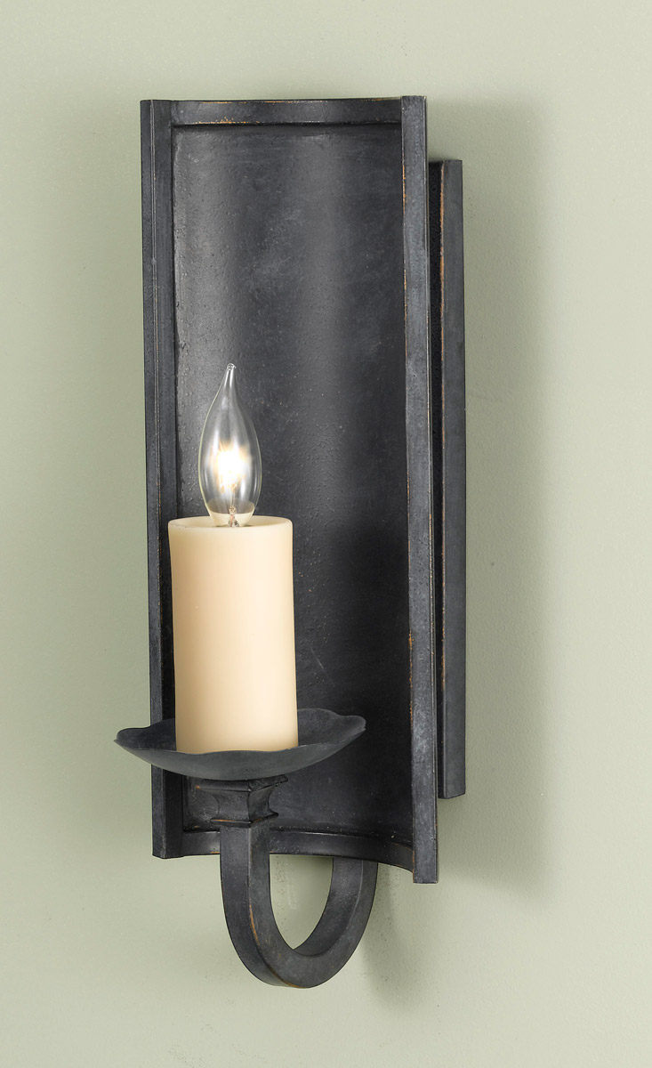 Feiss Kings Table 1 Light Wall Bracket in Antique Forged Iron WB1350AF