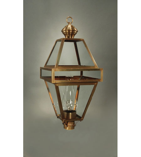 Northeast Lantern Boston 1 Light Post in Antique Brass 1273-AB-CIM-CLR photo