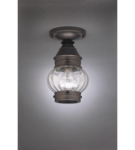 Northeast Lantern Onion 1 Light Flush Mount in Dark Brass 2014-DB-MED-OPT photo