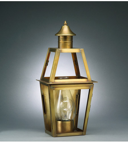 Northeast Lantern Uxbridge 1 Light Outdoor Wall Lantern in Antique Brass 2231-AB-CIM-CLR photo