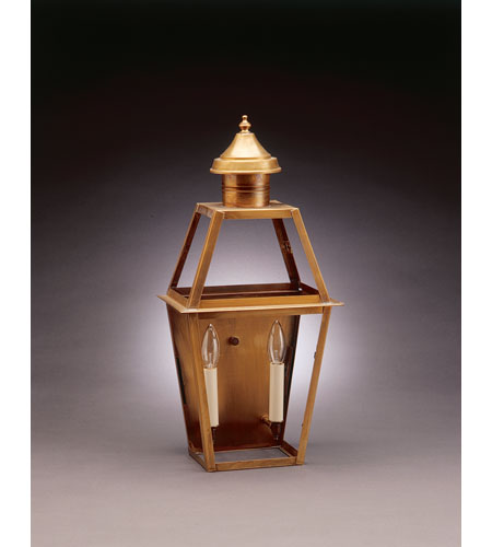 Northeast Lantern 2241-AB-LT2-CLR Uxbridge 2 Light 21 inch Antique Brass Outdoor Wall Lantern in Clear Glass, No Chimney, Candelabra photo