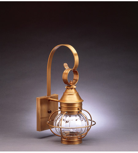 Northeast Lantern Onion 1 Light Outdoor Wall Lantern in Antique Brass 2511-AB-MED-OPT photo