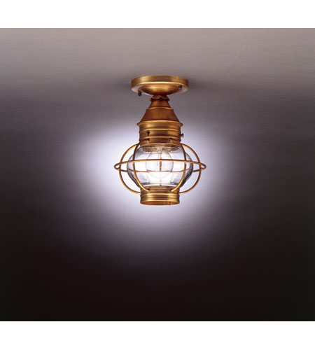 Northeast Lantern 2514-AB-MED-CLR Onion 1 Light 8 inch Antique Brass Flush Mount Ceiling Light in Clear Glass photo