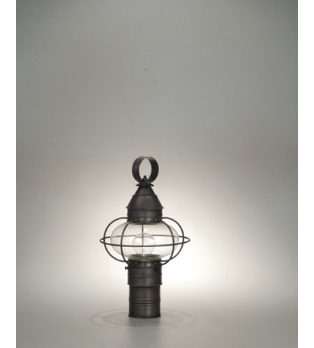 Northeast Lantern 2523-DB-MED-CLR Onion 1 Light 16 inch Dark Brass Post Lantern in Clear Glass