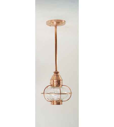 Northeast Lantern 252P-AC-MED-OPT Onion 1 Light 9 inch Antique Copper Pendant Ceiling Light in Optic Glass photo
