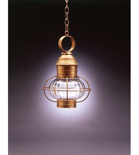 Northeast Lantern 2532-AB-MED-OPT Onion 1 Light 11 inch Antique Brass Hanging Lantern Ceiling Light in Optic Glass photo