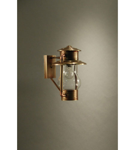 Northeast Lantern Railroad 1 Light Outdoor Wall Lantern in Antique Brass 2621-AB-MED-CLR photo