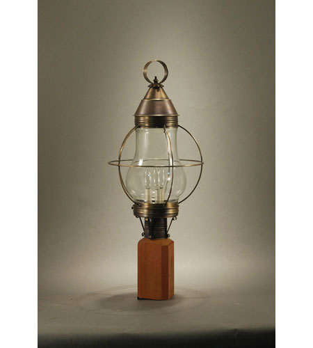 Northeast Lantern Bosc 3 Light Post in Dark Antique Brass 2743-DAB-LT3-CLR photo