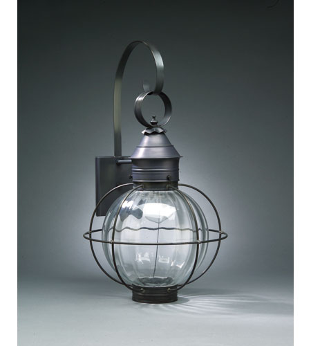 Northeast Lantern 2841-DB-MED-OPT Onion 1 Light 24 inch Dark Brass Outdoor Wall Lantern in Optic Glass, Medium