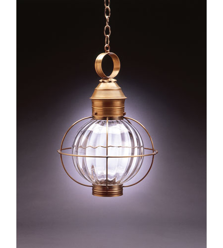 Northeast Lantern Onion 1 Light Hanging Lantern in Antique Brass 2842-AB-MED-OPT photo