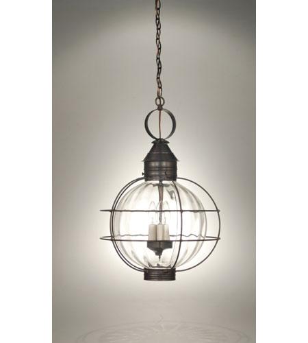 Northeast Lantern Onion 3 Light Hanging Lantern in Dark Brass 2852-DB-LT3-OPT photo