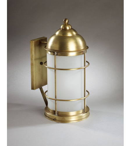Northeast Lantern Nautical 1 Light Outdoor Wall Lantern in Antique Brass 3531-AB-MED-FST photo
