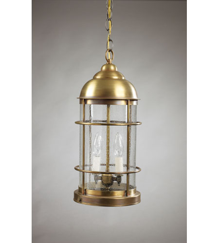 Northeast Lantern Nautical 2 Light Hanging Lantern in Antique Brass 3532-AB-LT2-CSG photo