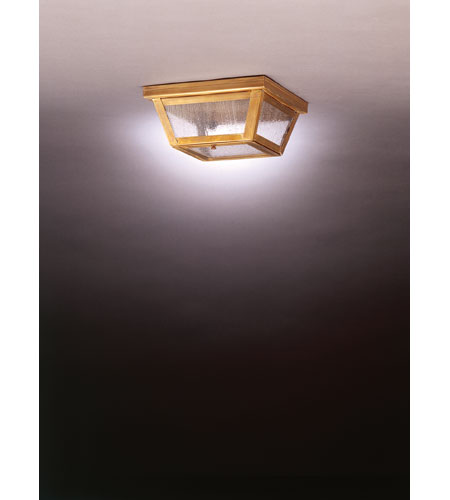 Northeast Lantern Williams 1 Light Flush Mount in Antique Brass 4104-AB-MED-SMG photo