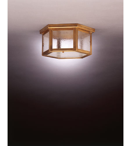 Northeast Lantern Williams 2 Light Flush Mount in Antique Brass 4604-AB-MED2-SMG photo