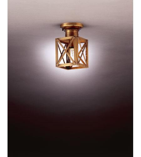 Northeast Lantern Suffolk 1 Light Flush Mount in Antique Brass 5014-AB-MED-CLR photo