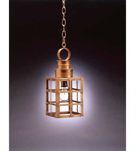 Northeast Lantern 5132-AB-MED-CLR Suffolk 1 Light 6 inch Antique Brass Hanging Lantern Ceiling Light in Clear Glass photo