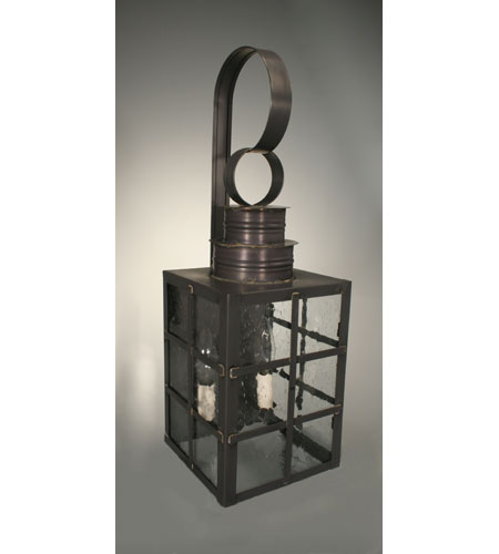Northeast Lantern 5141-DB-LT2-CSG Suffolk 2 Light 21 inch Dark Brass Outdoor Wall Lantern in Clear Seedy Glass, No Chimney, Candelabra photo