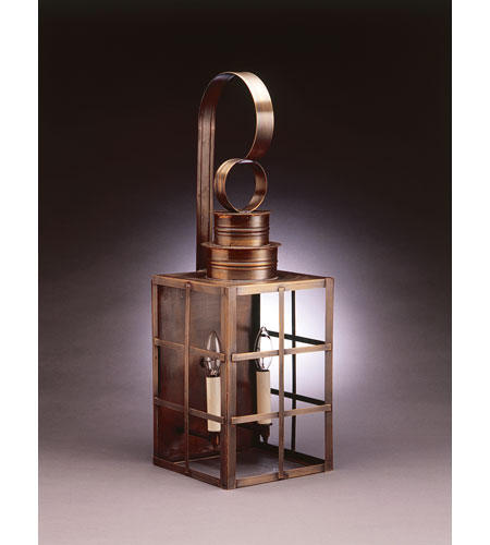Northeast Lantern Suffolk 2 Light Outdoor Wall Lantern in Dark Antique Brass 5151-DAB-LT2-CLR photo