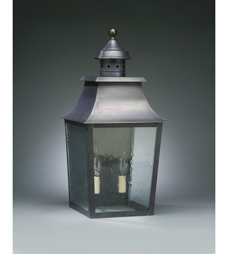 Northeast Lantern Sharon 2 Light Outdoor Wall Lantern in Dark Brass 5541-DB-LT2-CSG photo