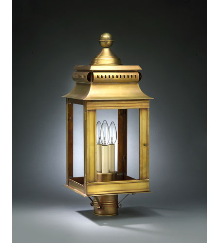 Northeast Lantern Concord 3 Light Post in Antique Brass 5633R-AB-LT3-CLR photo