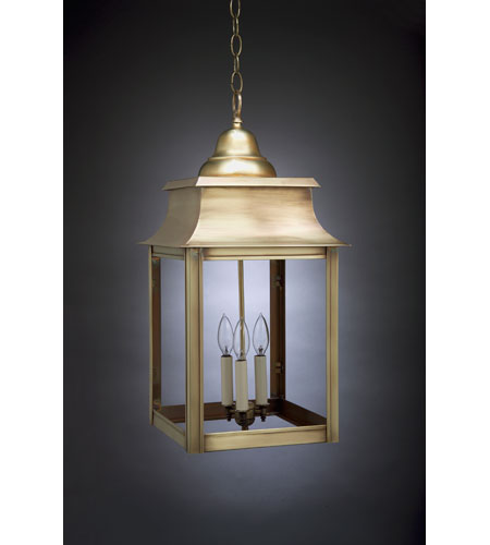 Northeast Lantern 5652-AB-LT3-CLR Concord 3 Light 12 inch Antique Brass Hanging Lantern Ceiling Light in Clear Glass photo