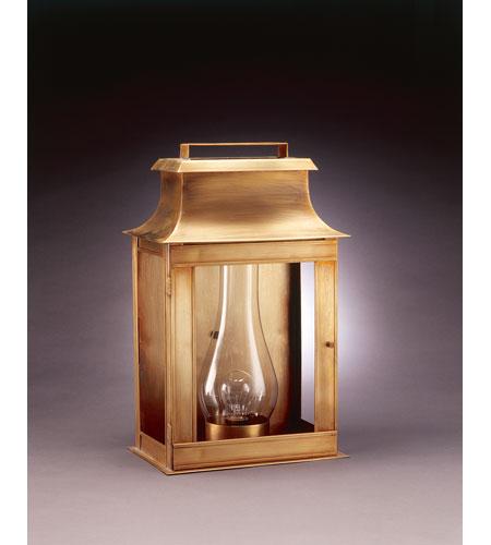 Northeast Lantern Concord 1 Light Outdoor Wall Lantern in Antique Brass 5751-AB-CIM-CLR photo