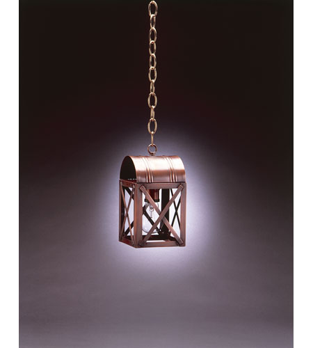 Northeast Lantern 6012-DB-MED-CLR Adams 1 Light 5 inch Dark Brass Hanging Lantern Ceiling Light in Clear Glass photo
