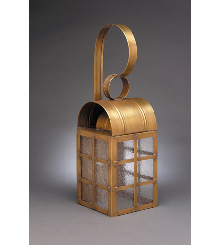 Northeast Lantern Adams 1 Light Outdoor Wall Lantern in Antique Brass 6131-AB-MED-SMG photo
