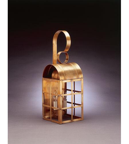 Northeast Lantern Adams 2 Light Outdoor Wall Lantern in Antique Brass 6141-AB-LT2-CLR photo