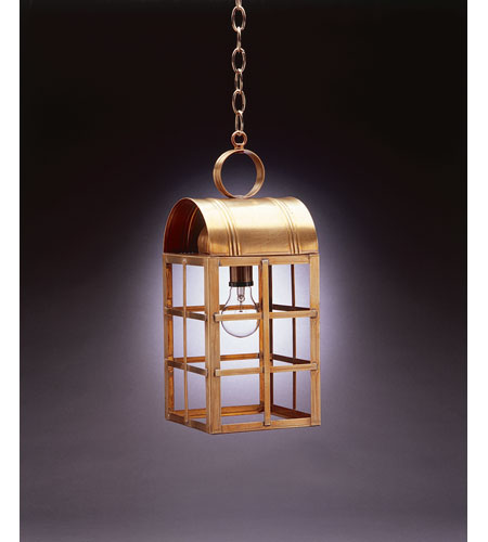 Northeast Lantern 6142-AB-MED-CLR Adams 1 Light 7 inch Antique Brass Hanging Lantern Ceiling Light in Clear Glass, Medium photo