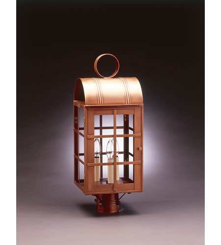 Northeast Lantern Adams 3 Light Post in Antique Brass 6153-AB-LT3-CLR photo