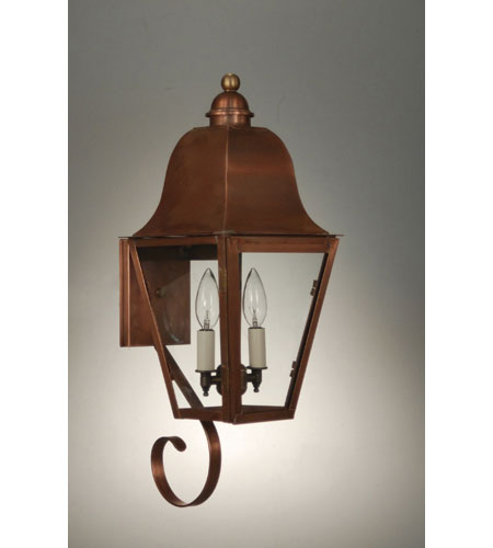 Northeast Lantern 6406-AC-LT2-CLR Imperial 2 Light 21 inch Antique Copper Outdoor Wall Lantern in Clear Glass photo