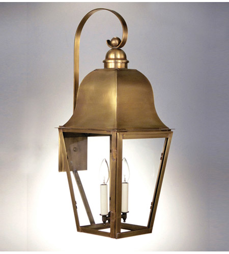 Northeast Lantern Imperial 2 Light Outdoor Wall Lantern in Antique Brass 6417-AB-LT2-CLR photo