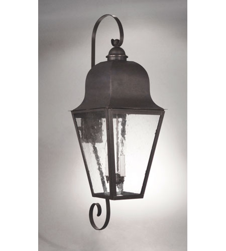 Northeast Lantern 6428-DB-LT3-CSG Imperial 3 Light 39 inch Dark Brass Outdoor Wall Lantern in Clear Seedy Glass photo