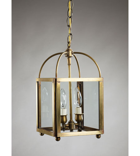 Northeast Lantern Signature 2 Light Chandelier in Antique Brass 6812-AB-LT2-CLR photo