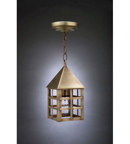 Northeast Lantern York 1 Light Hanging Lantern in Antique Brass 7112-AB-MED-CLR photo