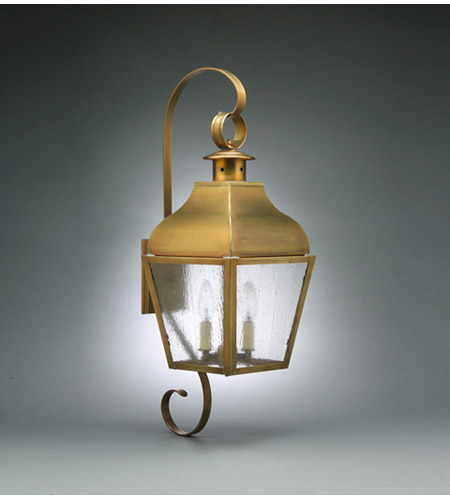 Northeast Lantern Stanfield 2 Light Outdoor Wall Lantern in Antique Brass 7638-AB-LT2-SMG photo